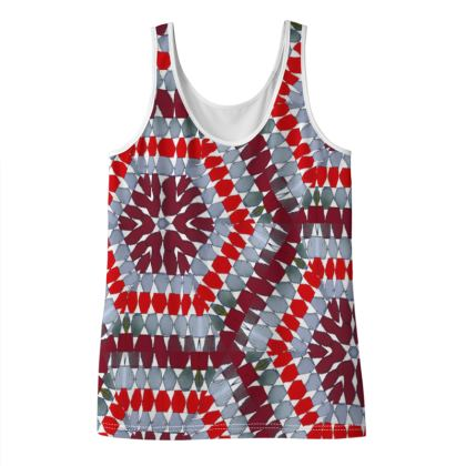 TopG Red Ladies Vest Top