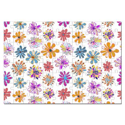 Rainbow Daisies Collection Jigsaw Puzzle