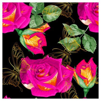 pink roses loafer espadrilles