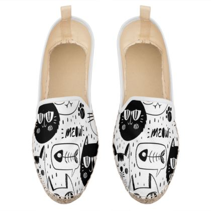 meow cats loafer espadrilles