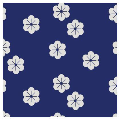 minimal flowers blue loafer espadrilles