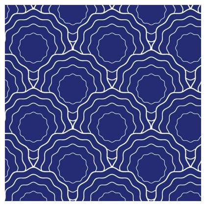 blue white waves loafer espadrilles