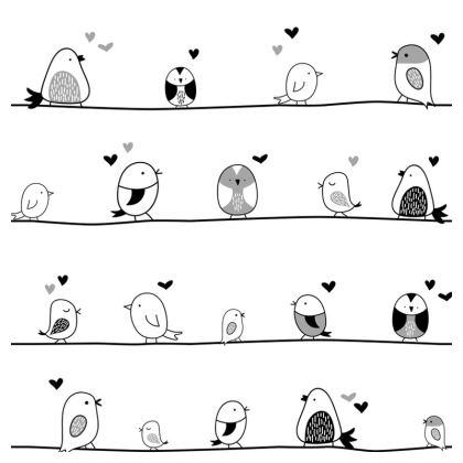minimal cute birds loafer espadrilles
