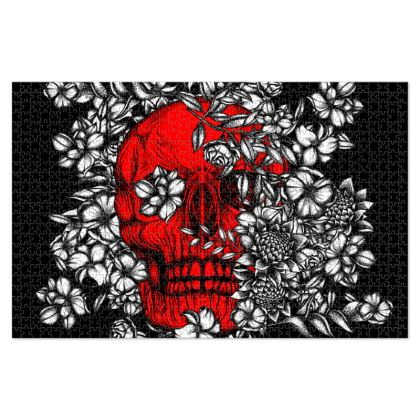 Red Skull Jigsaw Puzzle