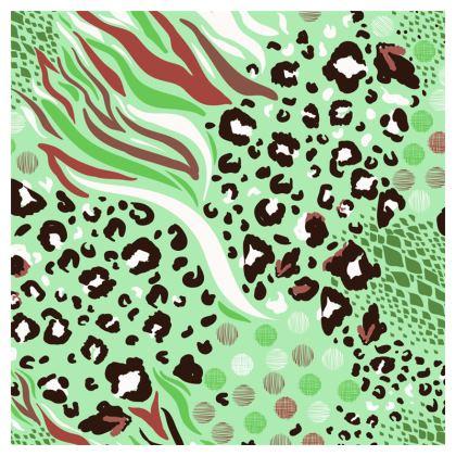 green animal print loafer espadrilles