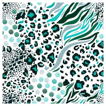light blue animal print loafer espadrilles