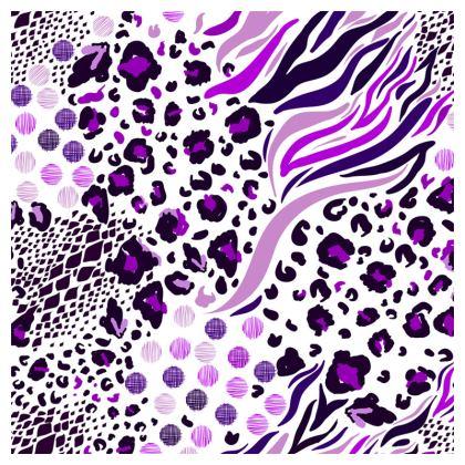 purple animal print loafer espadrilles
