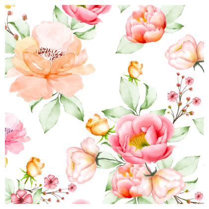 romantic flowers loafer espadrilles