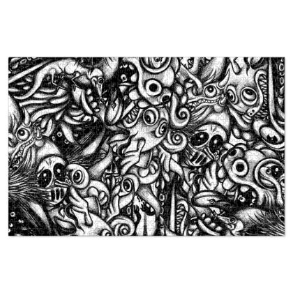 Doodles BW Jigsaw Puzzle