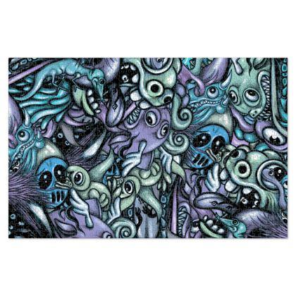 Blue Doodles Jigsaw Puzzle