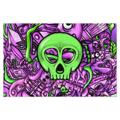 Green Skull Jigsaw Puzzle