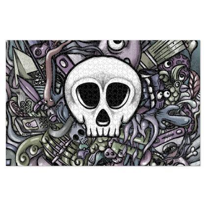 White Skull Jigsaw Puzzle