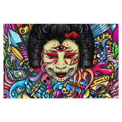 Geisha Doodles Jigsaw Puzzle