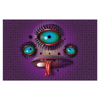 Purple Monster Jigsaw Puzzle