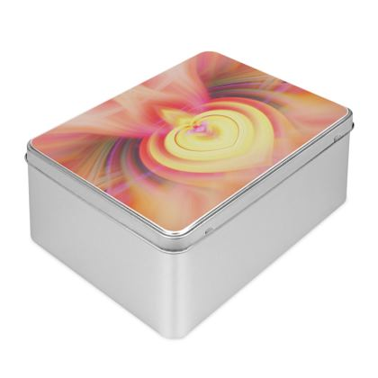 Colour Creative Twirl Heart Biscuit Tin