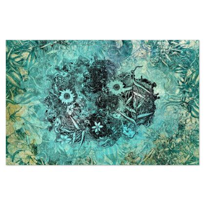 Blue Floral Skull Jigsaw Puzzle