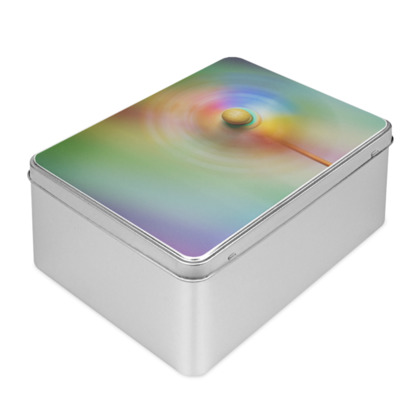 Colour Creative Rainbow Windmill Biscuit Tin