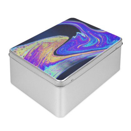 Iridescent Colours of Soap Film Biscuit Tin