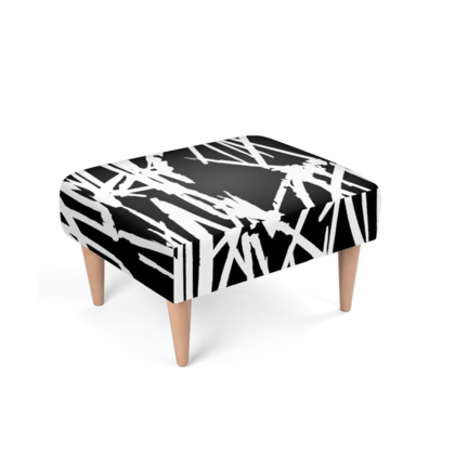 White Lightening Footstool