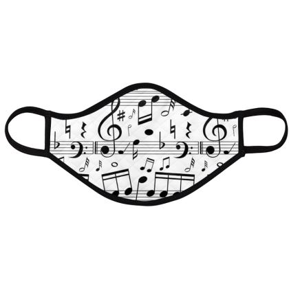 music and minimal black white geometric masks
