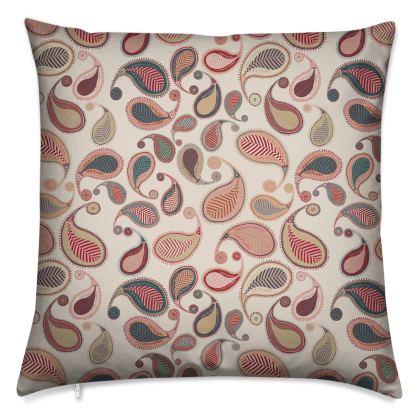 Paisley Heritage Collection (Stone) - Luxury Cushion