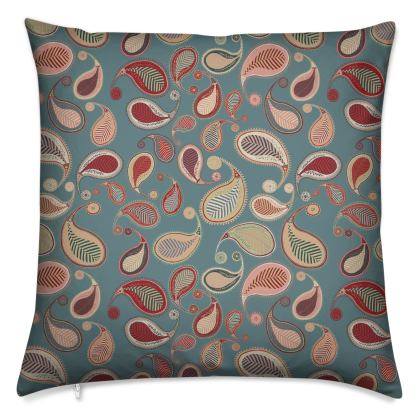 Paisley Heritage Collection (Blue) - Luxury Cushion