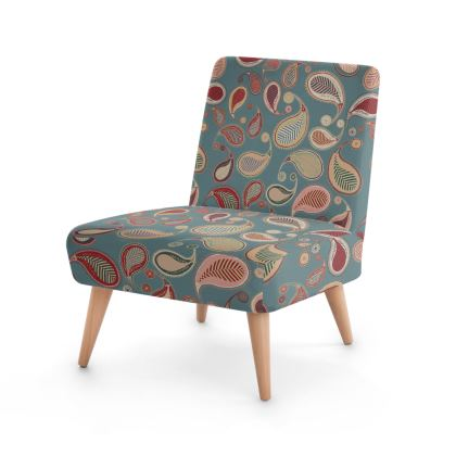 Paisley Heritage Collection (Blue) - Luxury Occasional Chair