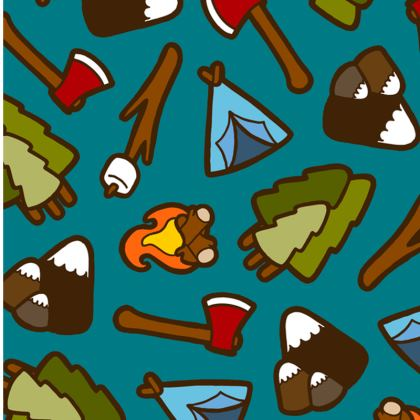 Camping is Cool Pattern Espadrilles