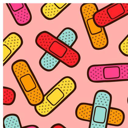 Rainbow Band-Aids Pattern Espadrilles