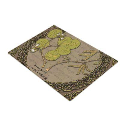 Tree Calendar Hazel Glass Chopping Board