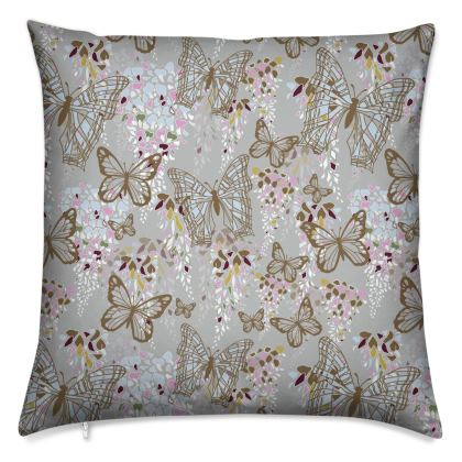 Wisteria Butterfly Collection (Large) - Luxury Cushion