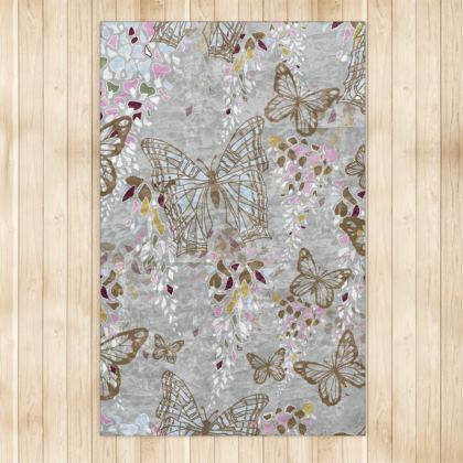 Wisteria Butterfly Collection (Large) - Luxury Rug (Large)