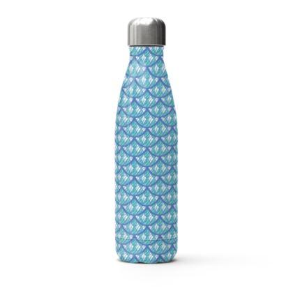 Mermaid Scales Teal and Purple Water Bottle