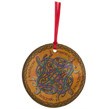 'Humanity' Celtic Knotwork Hanging Ornament