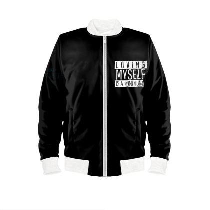 loving myself bomber jacket