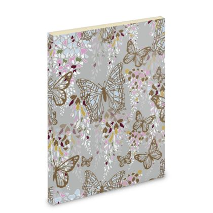 Wisteria Butterfly Collection (Large) - Luxury Pocket Note Book