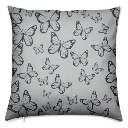 Wisteria Butterfly Collection (Navy) - Luxury Cushion