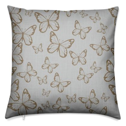 Wisteria Butterfly Collection (Gold) - Luxury Cushion