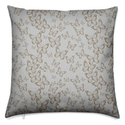 Wisteria Butterfly Collection (Gold/Small) - Luxury Cushion