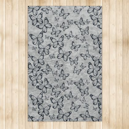 Wisteria Butterfly Collection (Navy) - Luxury Rug (Large)