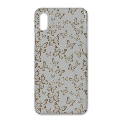 Wisteria Butterfly Collection (Gold) - Luxury iPhone X Case