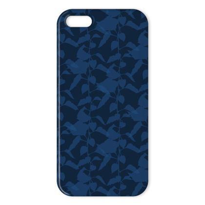 Japanese Lantern Collection (Navy Blue) - Luxury iPhone X Case