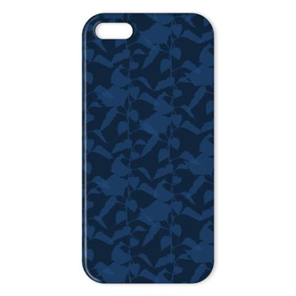 Japanese Lantern Collection (Navy Blue) - Luxury iPhone X Case