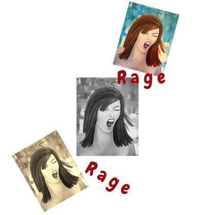 "Damen Slim Fit Shirt ""Rage"""