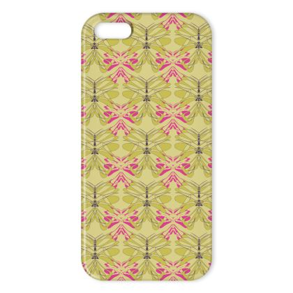 Butterfly Collection (Green Gold & Pink) - Luxury iPhone X Case