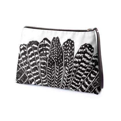 Tribal Feathers - Clutch Bag