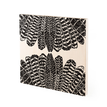 Tribal Feathers - Wood Prints