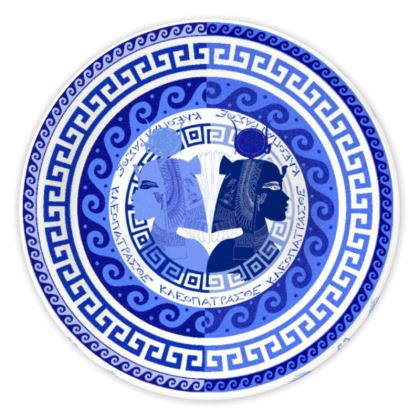Egyptian White & Blue: CLEOPATRA