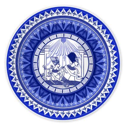 Egyptian White & Blue: NEFERTITI & AKHENATEN