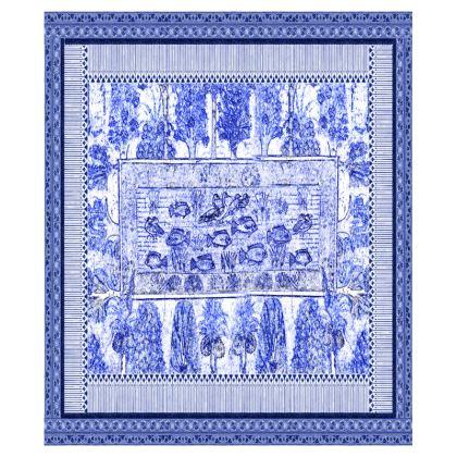 Egyptian White & Blue: GARDEN POND TEA TRAYS